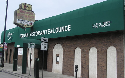 Manzo's / 3210 W. Irving Park Rd. Chicago, IL.